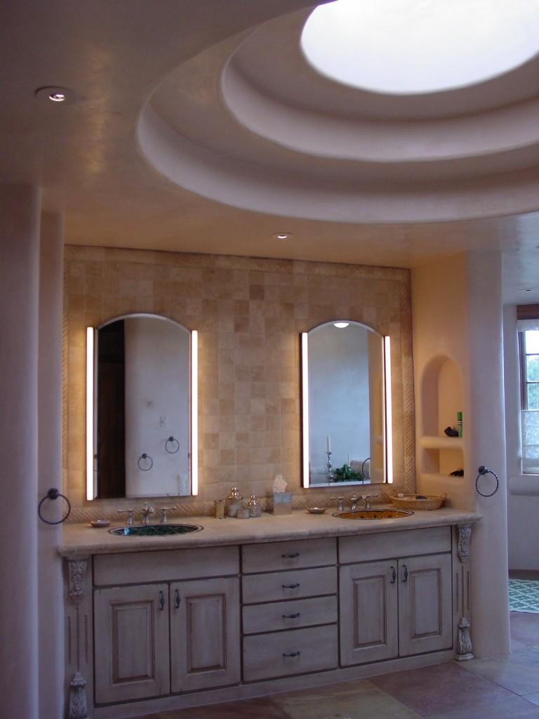Mediterranean inspired master bath.