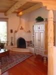 Santa Fe style kiva fireplace