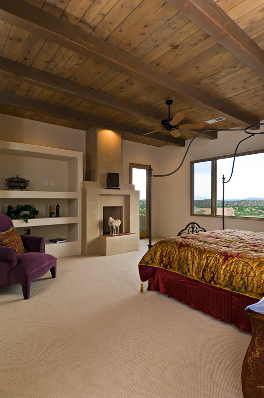 Southwestern bedroom with comtempory flair.